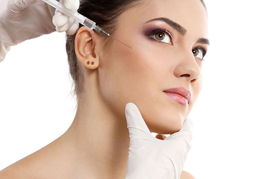 injections au niveau du face